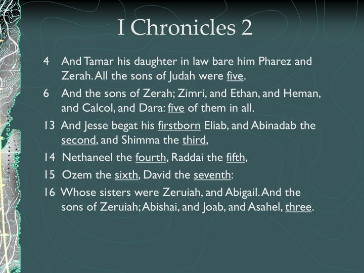 I Chronicles 2