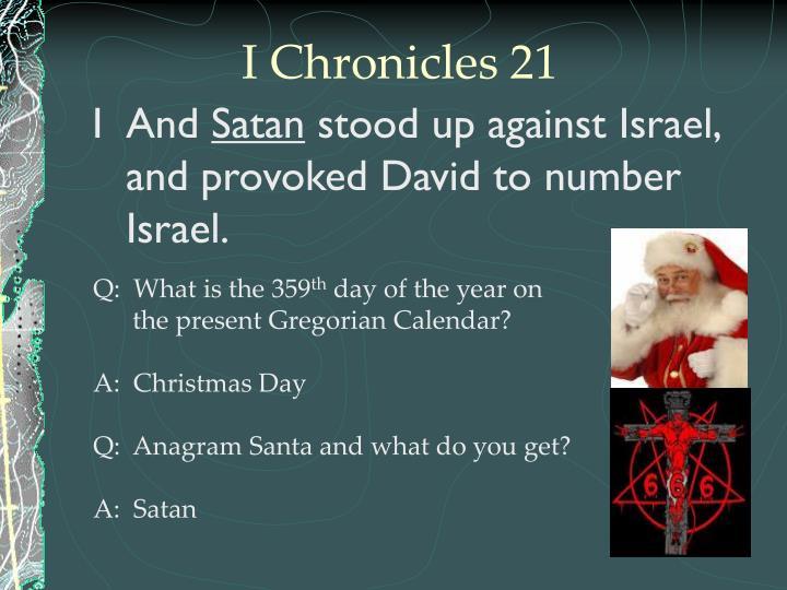 I Chronicles 21