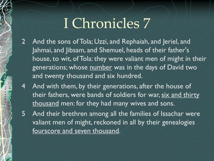 I Chronicles 7