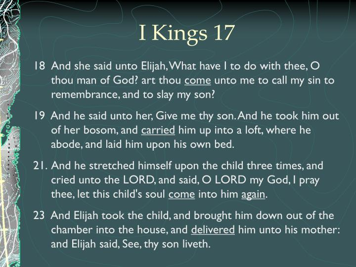 I Kings 17