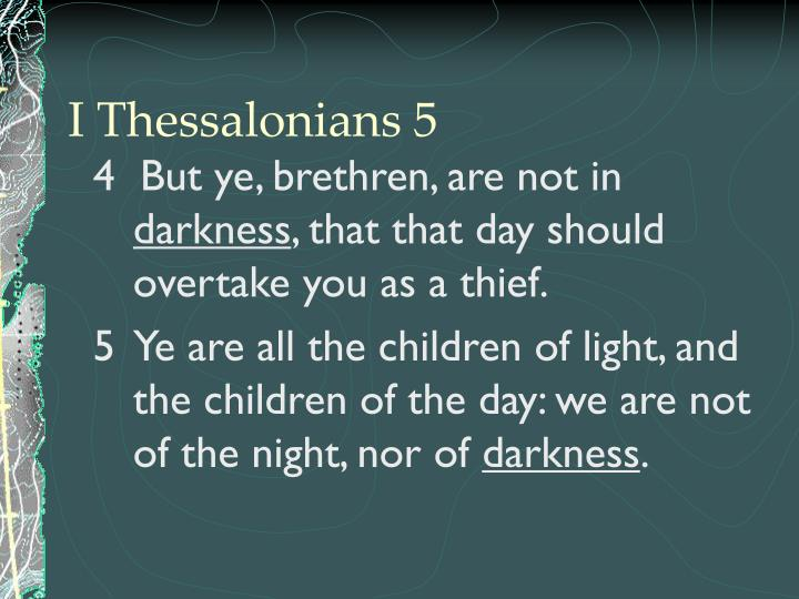 I Thessalonians 5