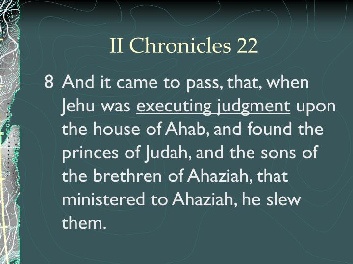 II Chronicles 22
