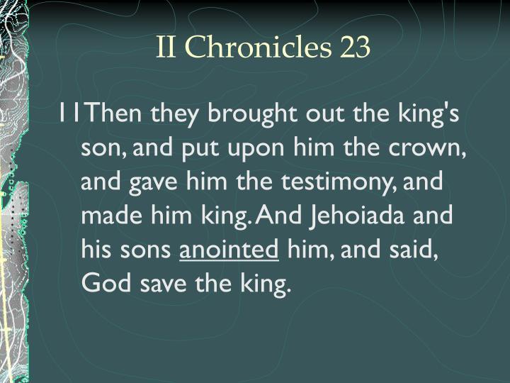 II Chronicles 23