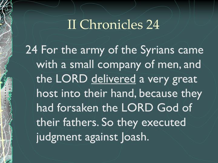 II Chronicles 24
