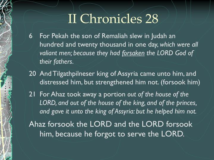 II Chronicles 28
