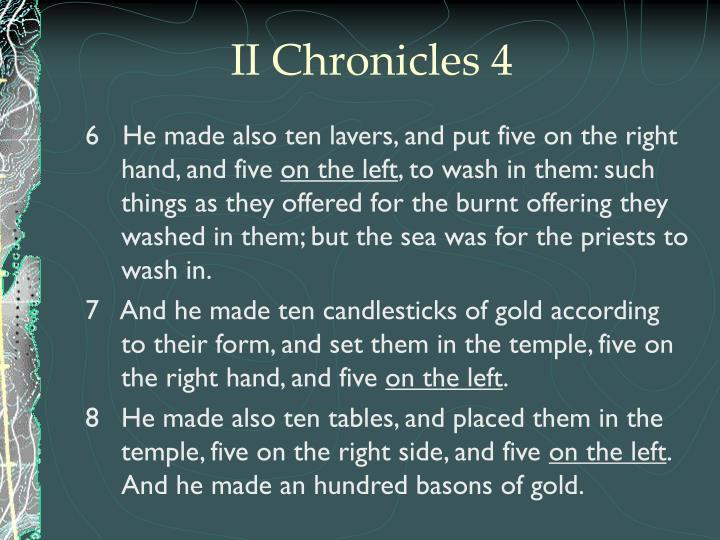 II Chronicles 4