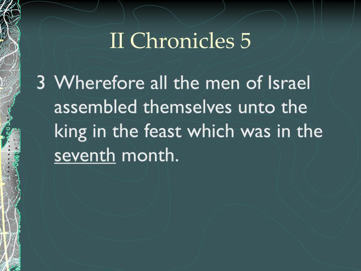 II Chronicles 5