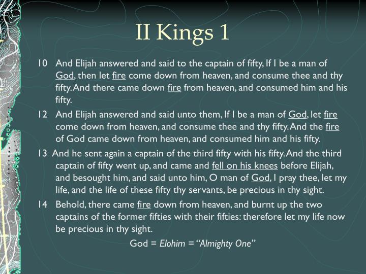 II Kings 1