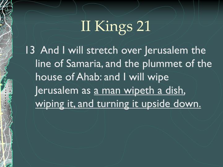 II Kings 21