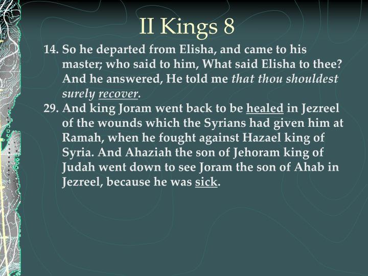 II Kings 8