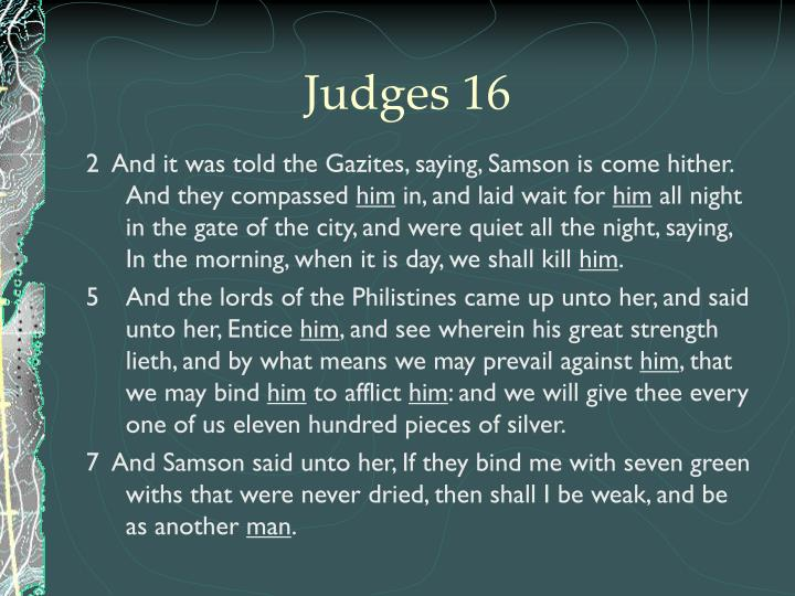 Judges 16