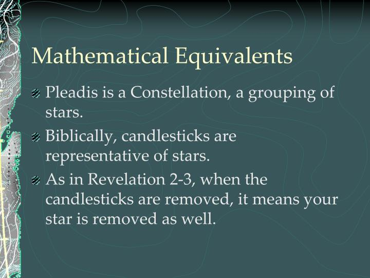Mathematical Equivalents