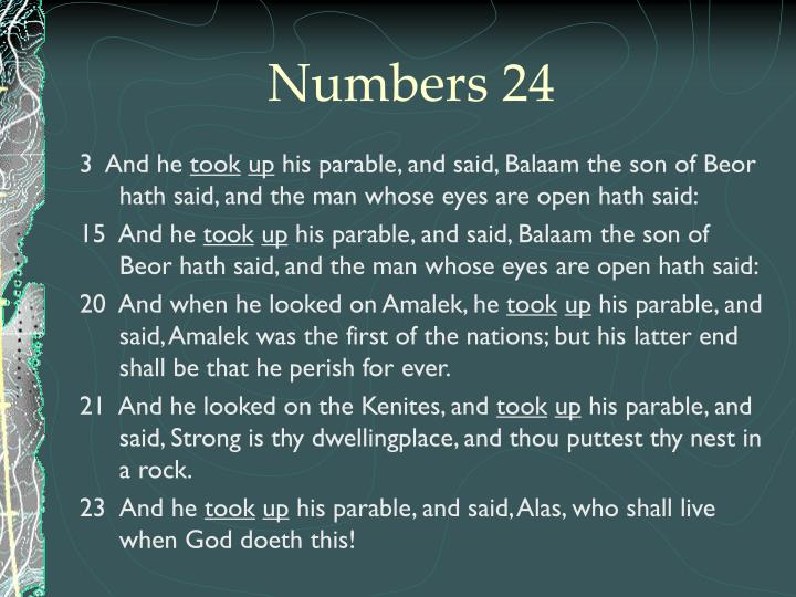 Numbers 24