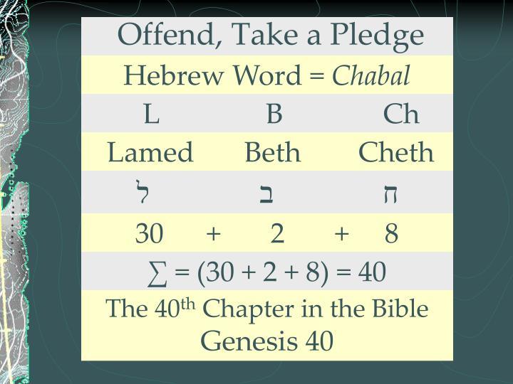 Offend, Take a Pledge