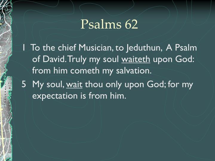 Psalms 62
