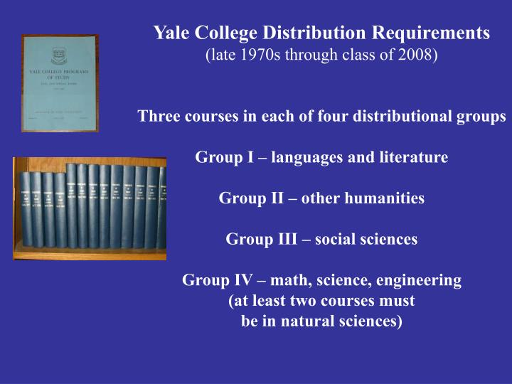 Yale College Distribution Requirements