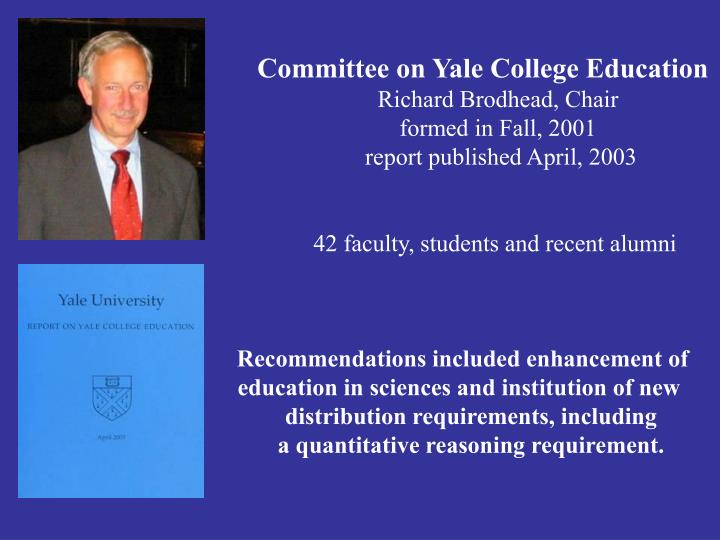 Committee on Yale College Education
