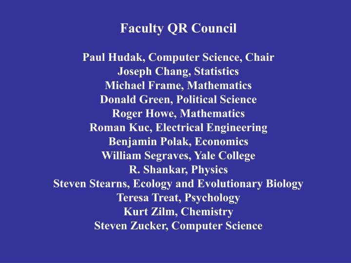 Faculty QR Council