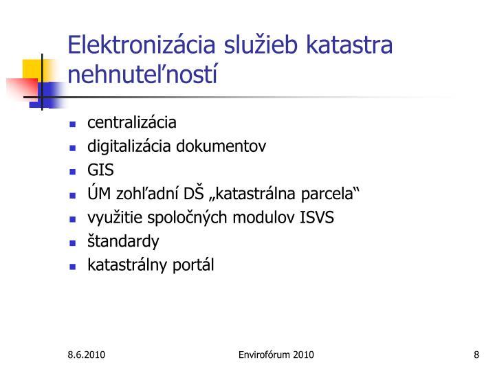 Elektronizácia