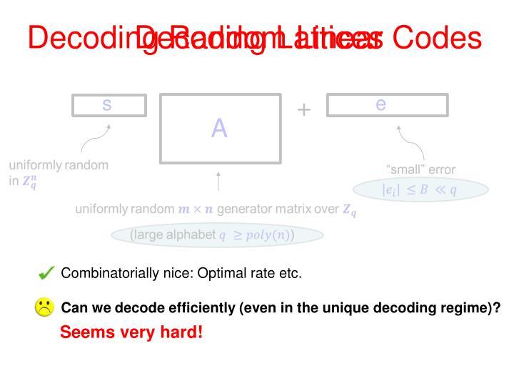 Decoding Lattices