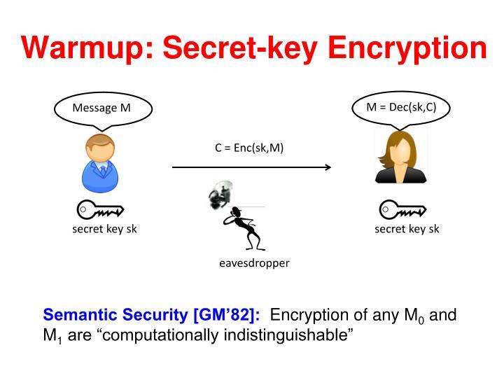 Warmup: Secret-key Encryption