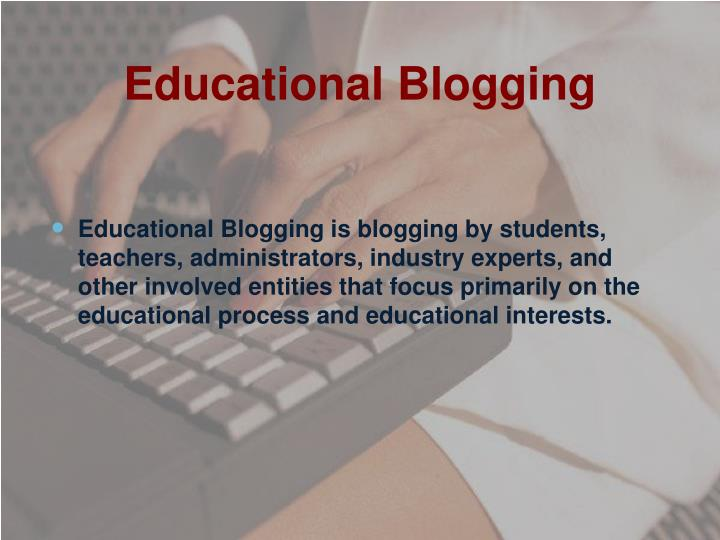 Educational blogging