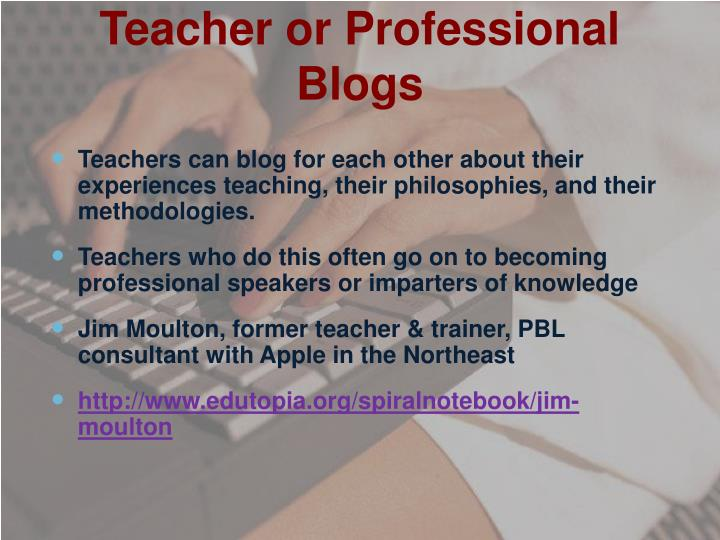 Teacher or Professional Blogs