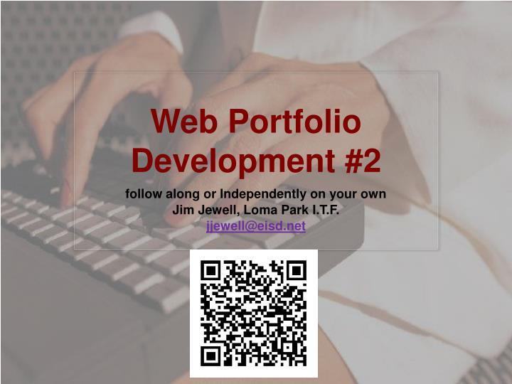 Web portfolio development 2
