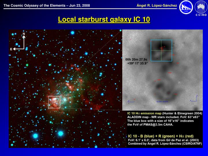 Local starburst galaxy IC 10