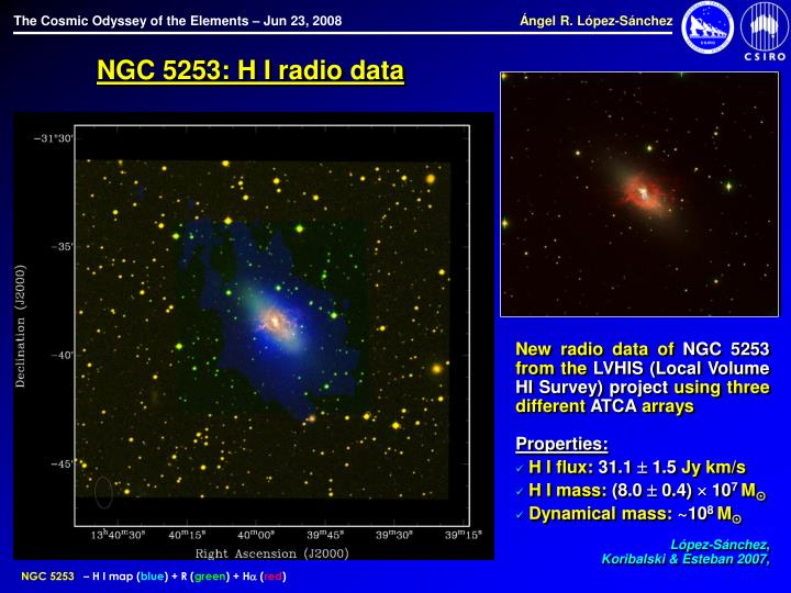 NGC 5253: H I radio data