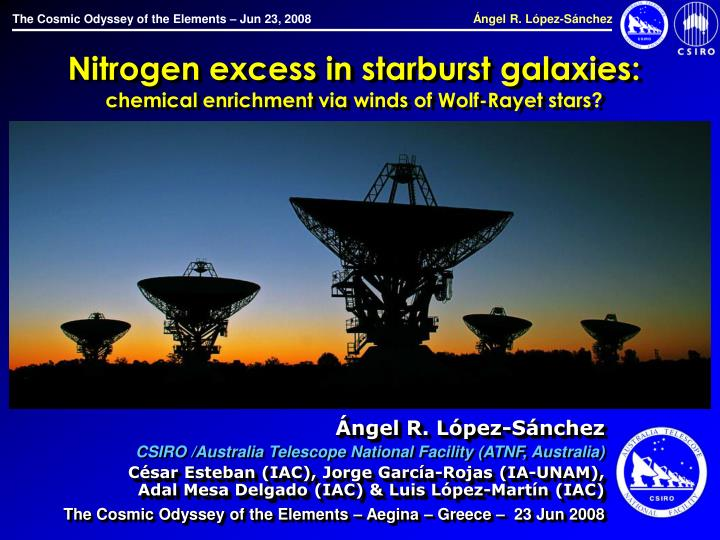Nitrogen excess in starburst galaxies chemical enrichment via winds of wolf rayet stars