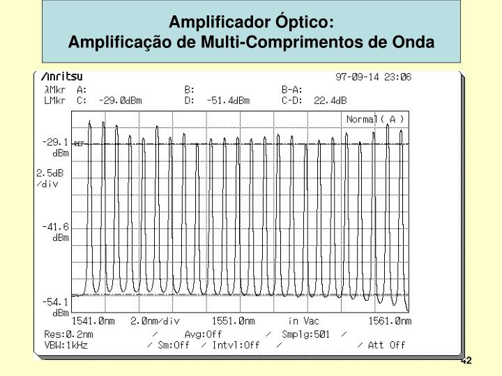 Amplificador Óptico: