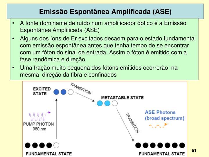 Emissão Espontânea Amplificada (ASE)