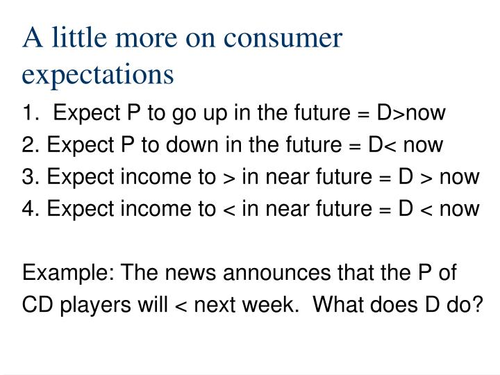 A little more on consumer expectations