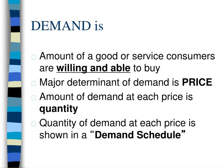 DEMAND is
