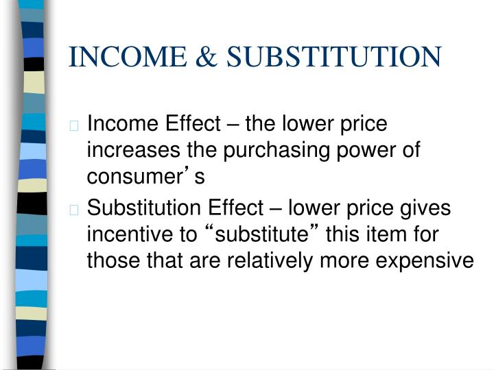 INCOME & SUBSTITUTION