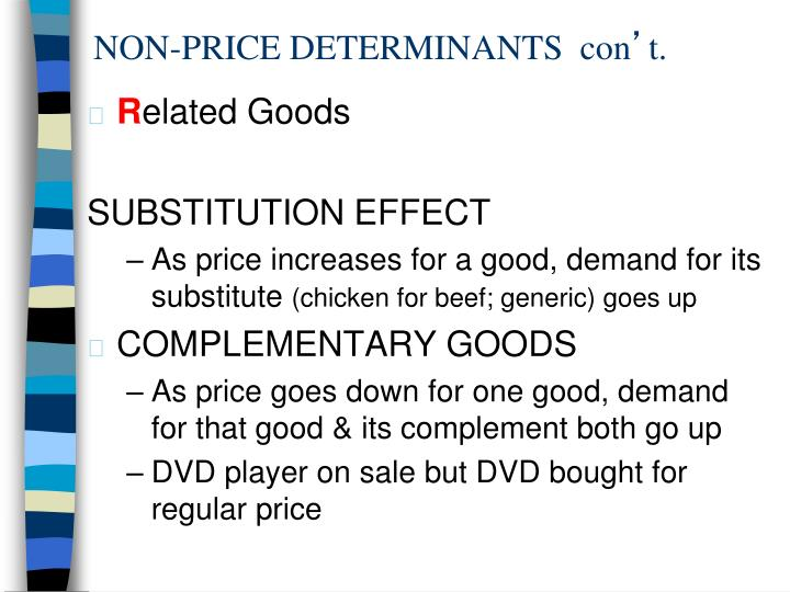 NON-PRICE DETERMINANTS  con