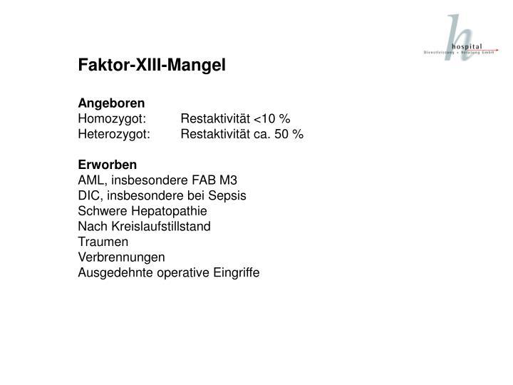Faktor-XIII-Mangel