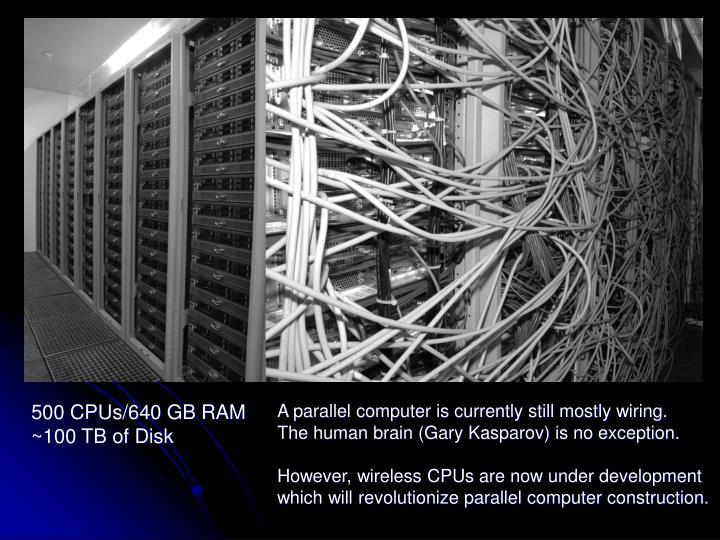 500 CPUs/640 GB RAM