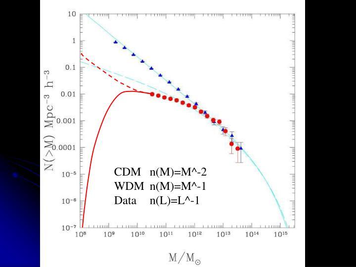 CDM n(M)=M^-2
