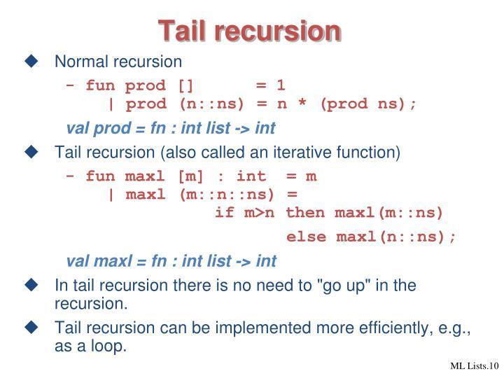 Tail recursion