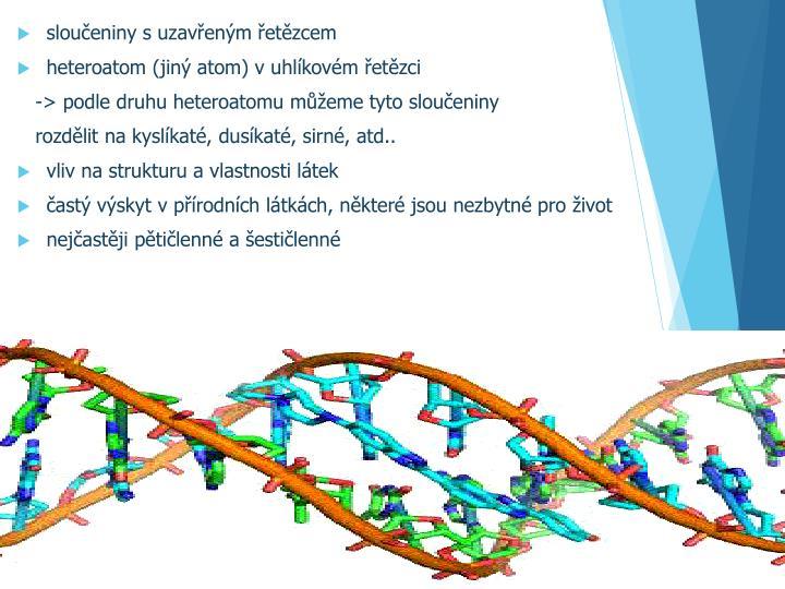 sloučeniny s uzavřeným řetězcem
