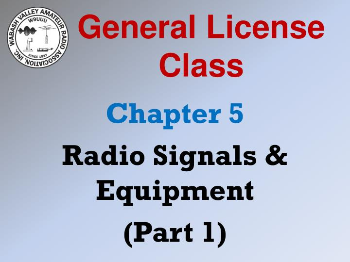 General license class