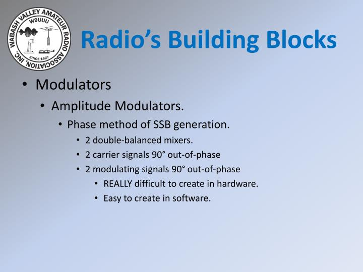 Radio's Building Blocks