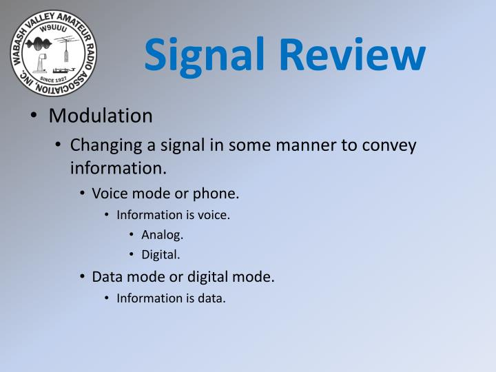 Signal Review