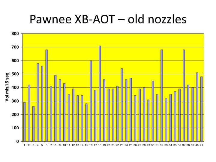 Pawnee XB-AOT – old nozzles