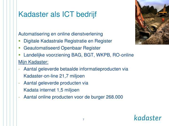 Kadaster als ICT bedrijf