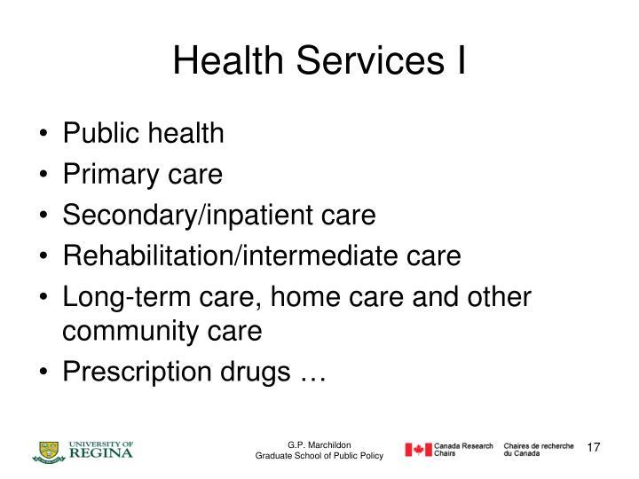 Health Services I
