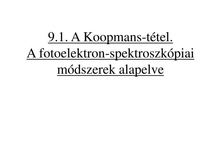 9.1. A Koopmans-tétel.