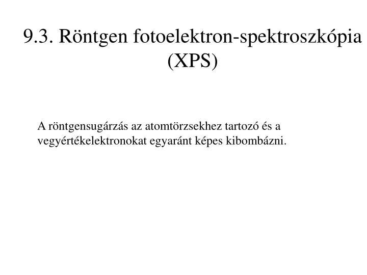 9.3. Röntgen fotoelektron-spektroszkópia